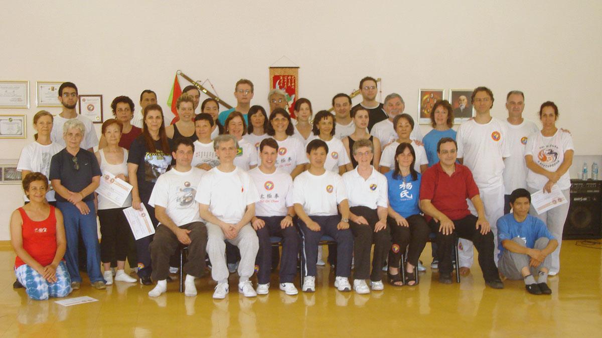Participantes do Seminário da Forma 49 movimentos do Tai Chi Chuan realizado no EQUILIBRIUS