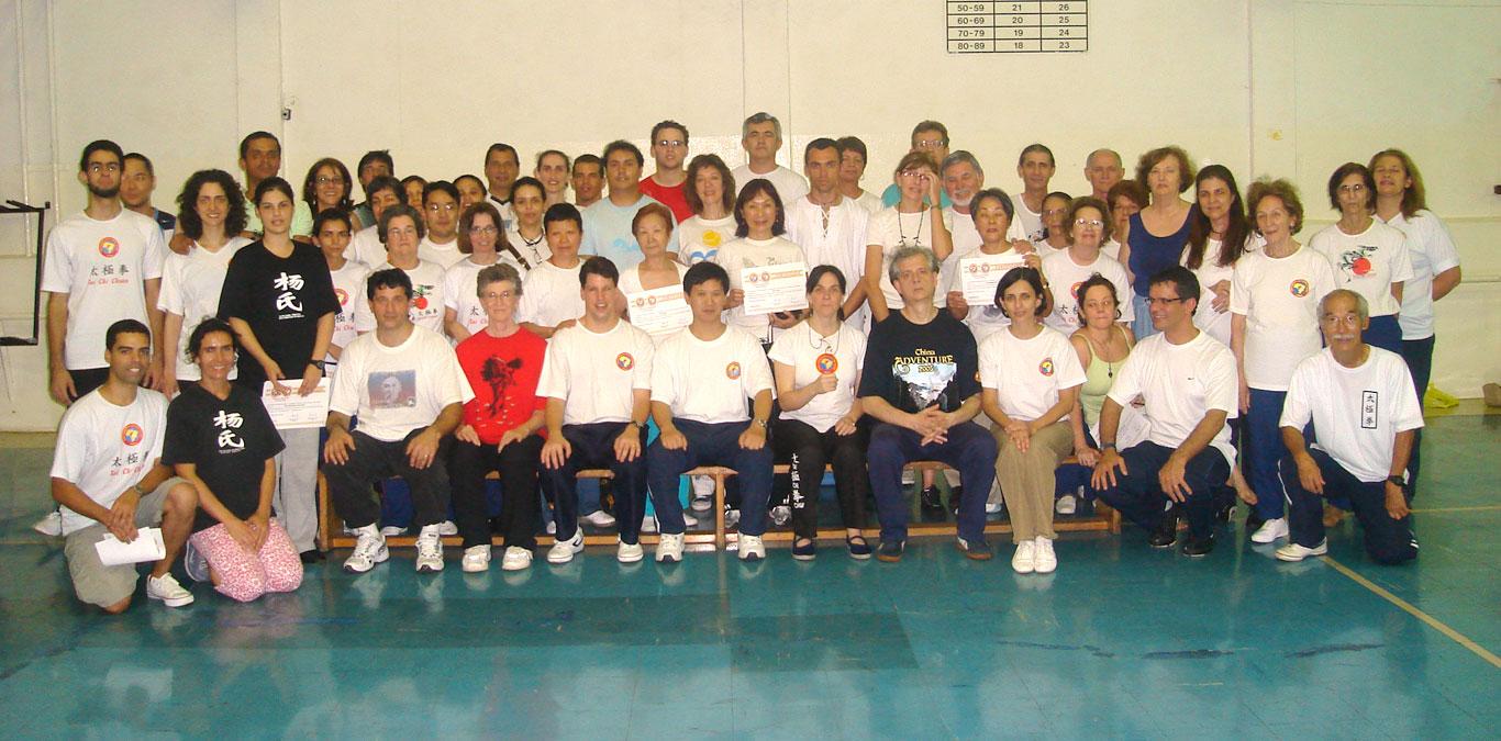Participantes do Seminário da Forma Tradicional do Tai Chi Chuan realizado na Academia RT