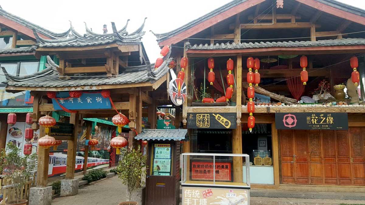 Visita ao Vilarejo antigo de Shuhe, perto da cidade de Lijiang na Província de Yunnan