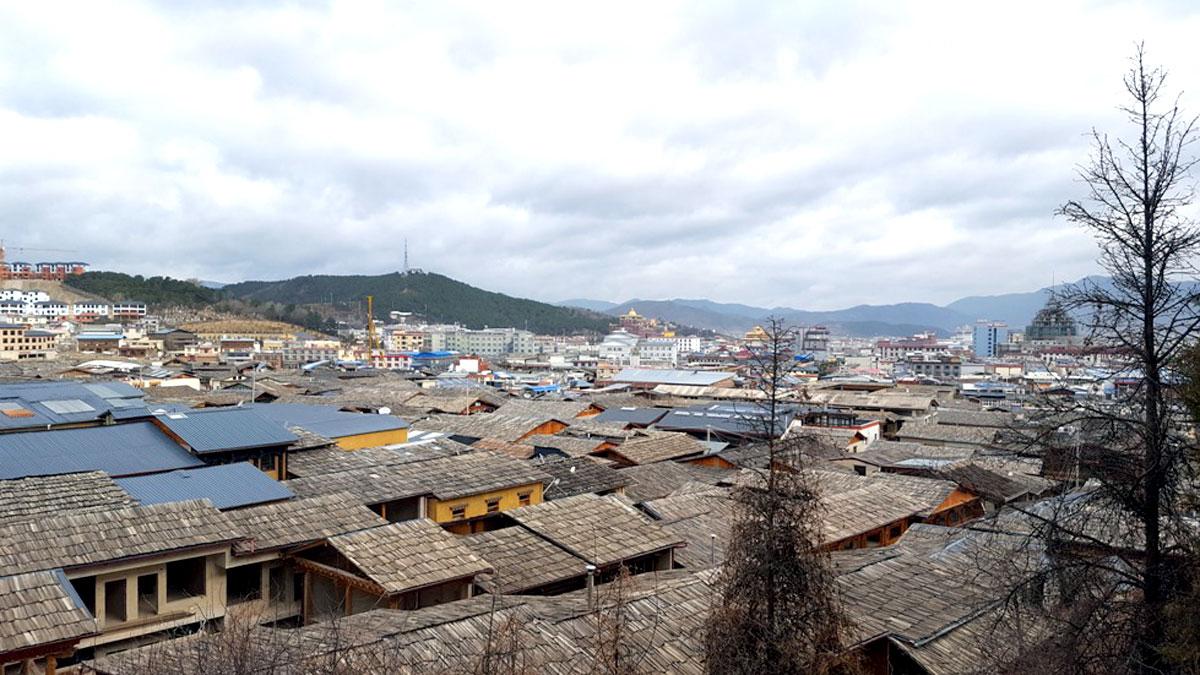 Cidade tradicional de Shangri-lá, Província de Yunnan, quase na divisa com o Tibet