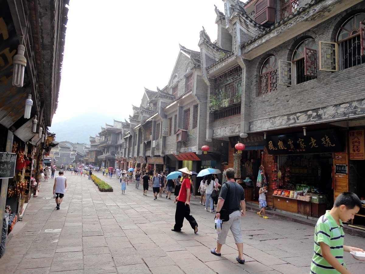 Cidade Fênix, uma cidade antiga e tradicional chinesa na Província de Hunan