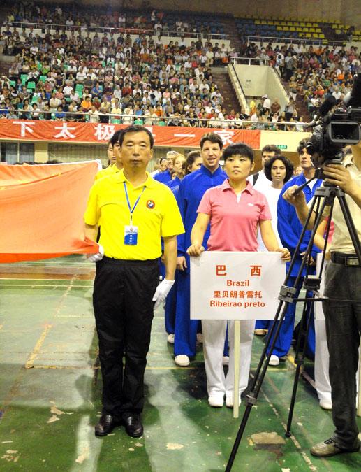 Delegação do EQUILIBRIUS de Ribeirão Preto na Cerimônia de Abertura do 4º Torneio Internacional de Tai Chi Chuan
