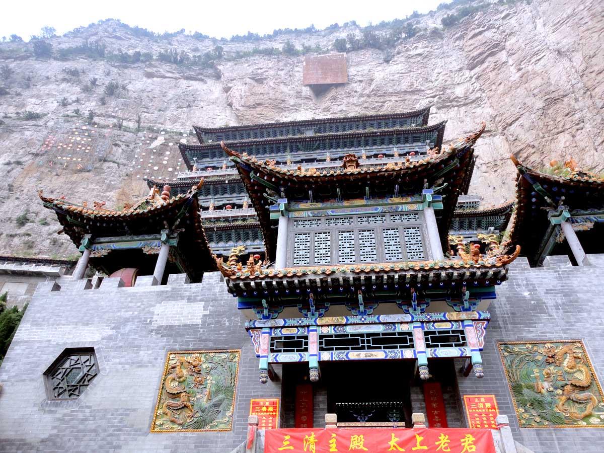 Templo Taoísta Da Luo (maior Templo Taoísta da China) na Montanha Mianshan, na Província de Shanxi