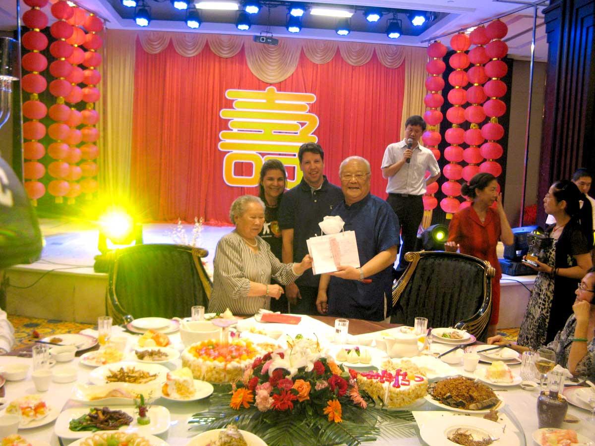 Jantar especial de Celebração do 87º aniversário do Grão Mestre Yang Zhen Duo