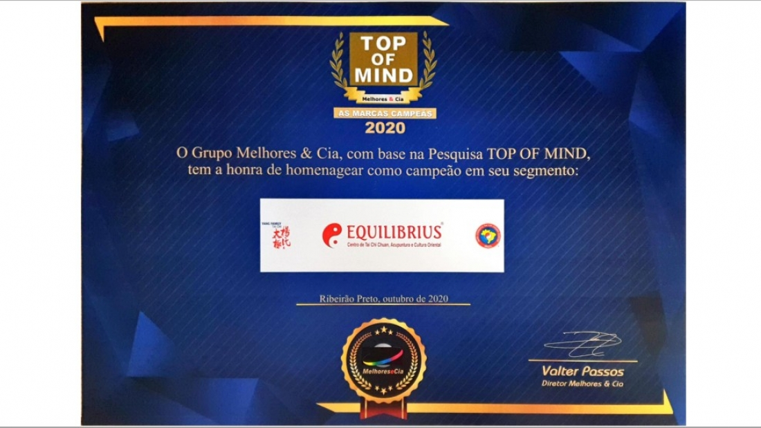 EQUILIBRIUS Premio Top of Mind